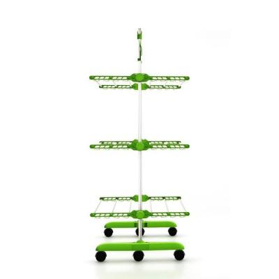 Herzberg HG-5015-GR Πολυλειτουργική απλώστρα αναδιπλούμενη, πράσινη