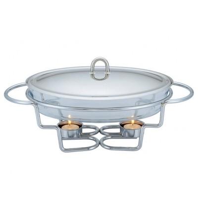 BH-1382 3 σε 1 Σετ ψησίματος-θέρμανσης-διατήρησης φαγητού με ρεσό και πυρίμαχο οβάλ σκεύος 3lt