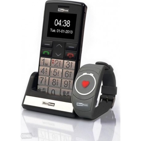 Maxcom MM715BB με Ασύρματο Βραχιόλι SOS, Bluetooth, Μεγάλα Πλήκτρα, Ραδιόφωνο, Φακό & Πλήκτρο Έκτακτης Ανάγκης