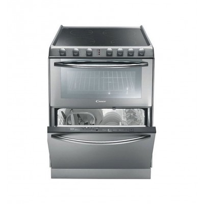 Candy Trio 9503/1X Inox Κεραμική Κουζίνα με πλυντήριο πιάτων