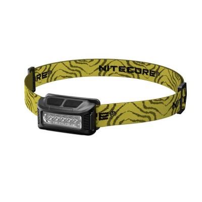 NiteCore NU10 Φακός Κεφαλής LED Επαναφορτιζόμενος 160 Lumens (Black)