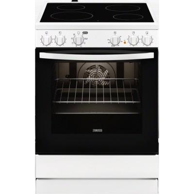 Zanussi ZCV65050WA κουζίνα με κεραμική εστία λευκή