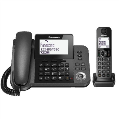 Panasonic KX-TGF310EXM Black Ενσυρμάτο/Ασύρματο Τηλέφωνο