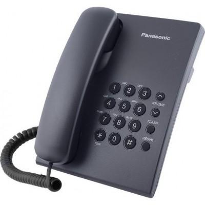 Panasonic KX-TS500 Ενσύρματο Τηλέφωνο Μαύρο