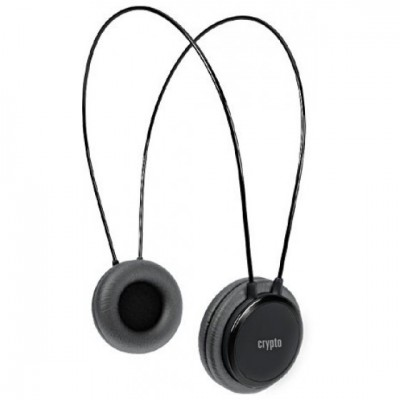 Crypto HP-100 Headphones Black On-Ear Close
