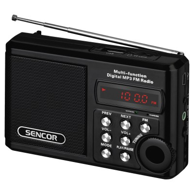 Sencor SRD 215 B Black Φορητό Ραδιόφωνο