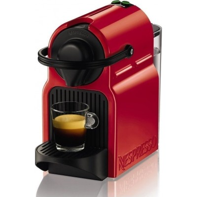 Krups XN1005S Inissia Ruby Red Μηχανή Nespresso + Δώρο 14 κάψουλες + Δώρο Κουπόνι για κάψουλες αξίας 30€