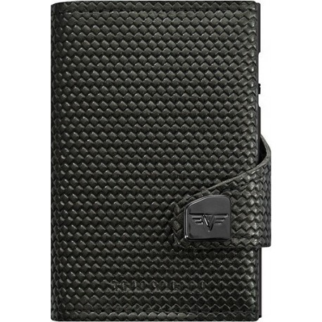 Tru Virtu Click & Slide Diagonal Carbon Wallet Black