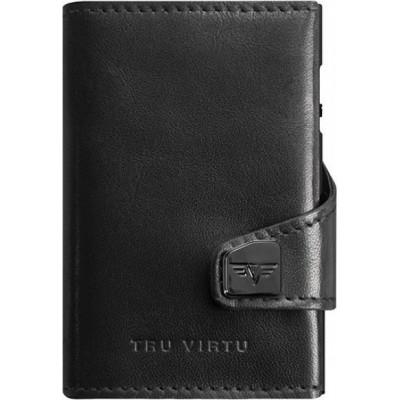 Tru Virtu Click & Slide Nappa Wallet Black
