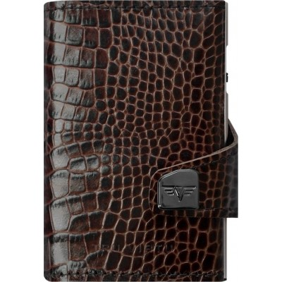 Tru Virtu Click & Slide Croco Wallet Brown