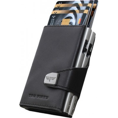 Tru Virtu Click & Slide Nappa Wallet Brown/Silver