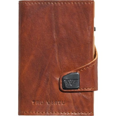 Tru Virtu Click & Slide Caramba Wallet Brown / Yellow