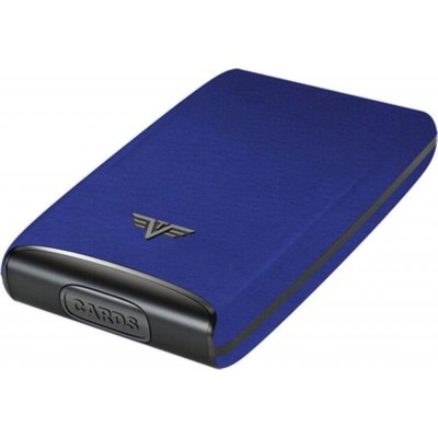 Tru Virtu Fan Leather Line Card Case Blue Pebble