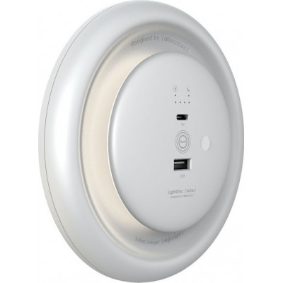 Allocacoc Solar LightDisc White & Powerbank