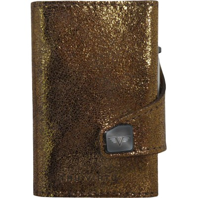 Tru Virtu Click & Slide Wallet GoldBrown/Silver