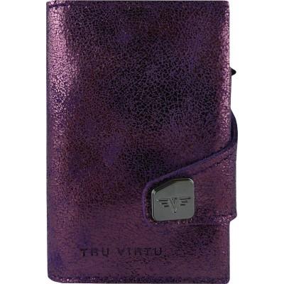 Tru Virtu Click & Slide Wallet Glitter Blackberry/Silver