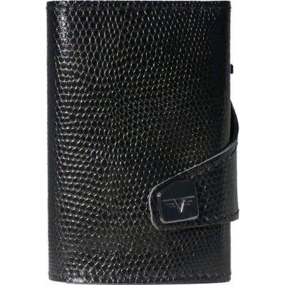 Tru Virtu Click & Slide Wallet Iguana Glossy Black/Black
