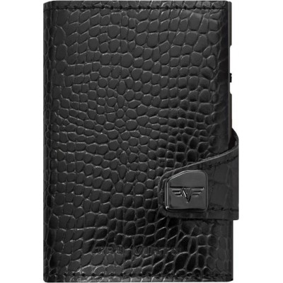 Tru Virtu Click & Slide Wallet Croco Black