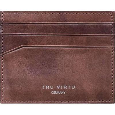 Tru Virtu Wallet Soft Natural Brown Δερμάτινο Πορτοφόλι