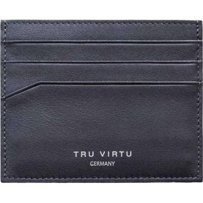 Tru Virtu Wallet Soft Nappa Black Δερμάτινο Πορτοφόλι