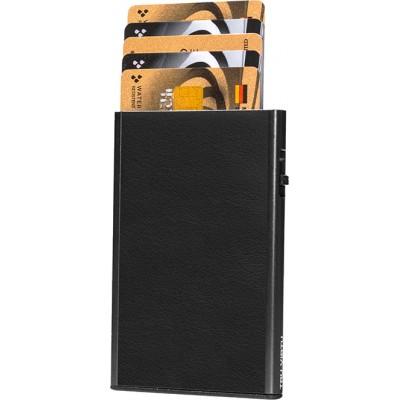 Tru Virtu Click & Slide Nappa Black/Black Θήκη Καρτών
