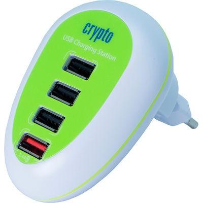 Crypto CS4UG Charging Station 4 USB Φορτιστής
