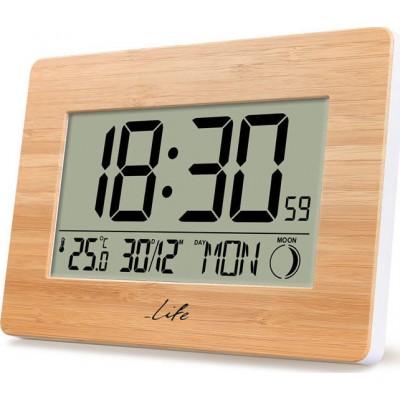 Life Bamboo Clock XL ψηφιακό ρολόι / ξυπνητήρι