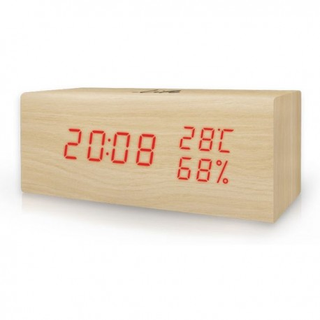 LIFE WES-106 Ξύλινο ψηφιακό θερμόμετρο/υγρόμετρο