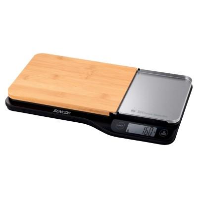 Sencor SKS 6500BK Ζυγαριά κουζίνας με ξύλινη βάση
