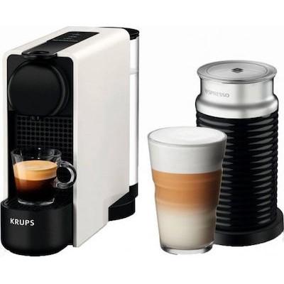 Krups Nespresso XN5111S Essenza Plus & Aeroccino White