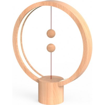 Allocacoc Heng Balance Wooden Lamp Round