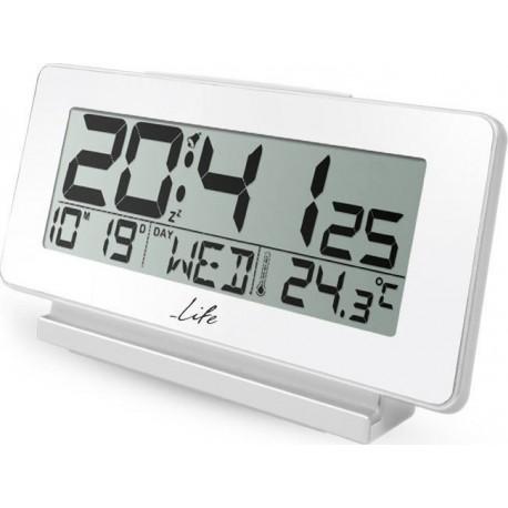 Life ACL-200 Ψηφιακό ρολόι / ξυπνητήρι με θερμόμετρο εσωτερικού χώρου, ημερομηνία και οθόνη LCD.