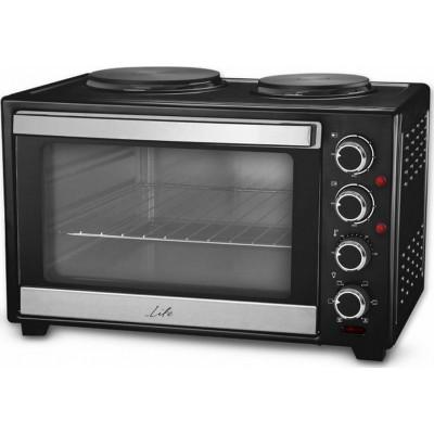 Life Kouzinaki 382 Ηλεκτρικό κουζινάκι 38L με κυκλοφορία θερμού αέρα και 2 εστίες