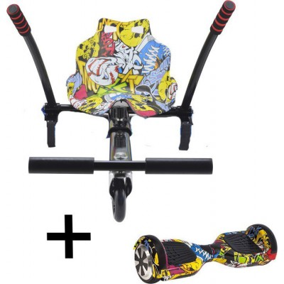 Urbanglide Hoverboard 65 Lite + Kart Pilot Multicolour