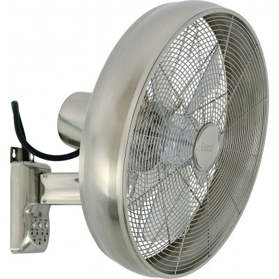 Lucci Air Breeze Wall Fan Brushed Chrome (80213126)