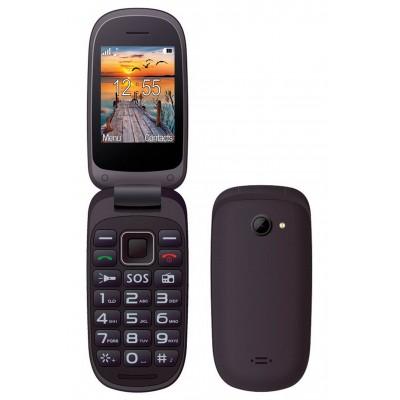 "Maxcom MM818 (Dual Sim) 2,4"" με Μεγάλα Πλήκτρα, Ραδιόφωνο (Λειτουργεί χωρίς Handsfree) και Πλήκτρο Έκτακτης Ανάγκης Μαύρο"