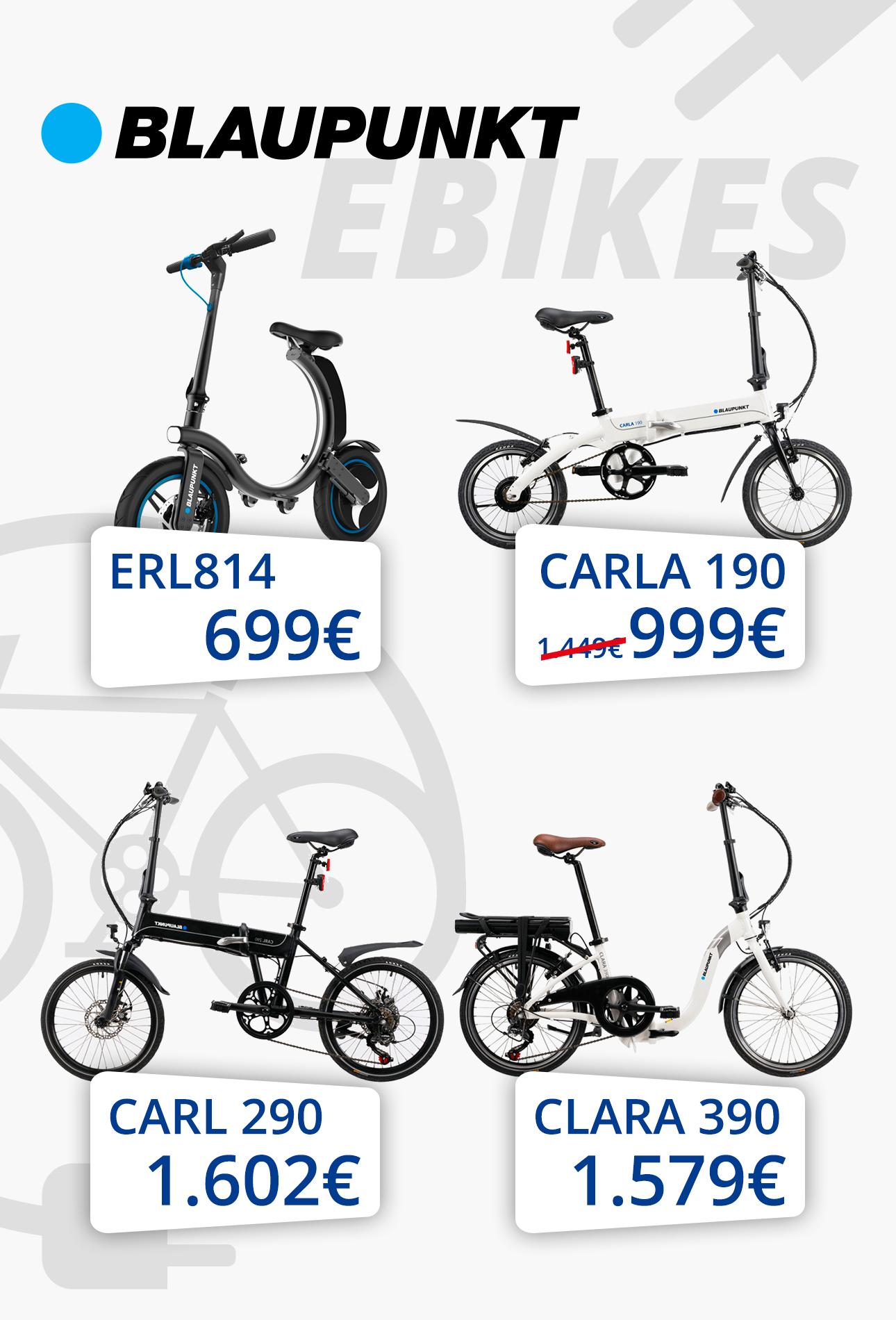 Κινούμαι ηλεκτρικά με ηλεκτρικά ποδήλατα BlauPunkt -40%