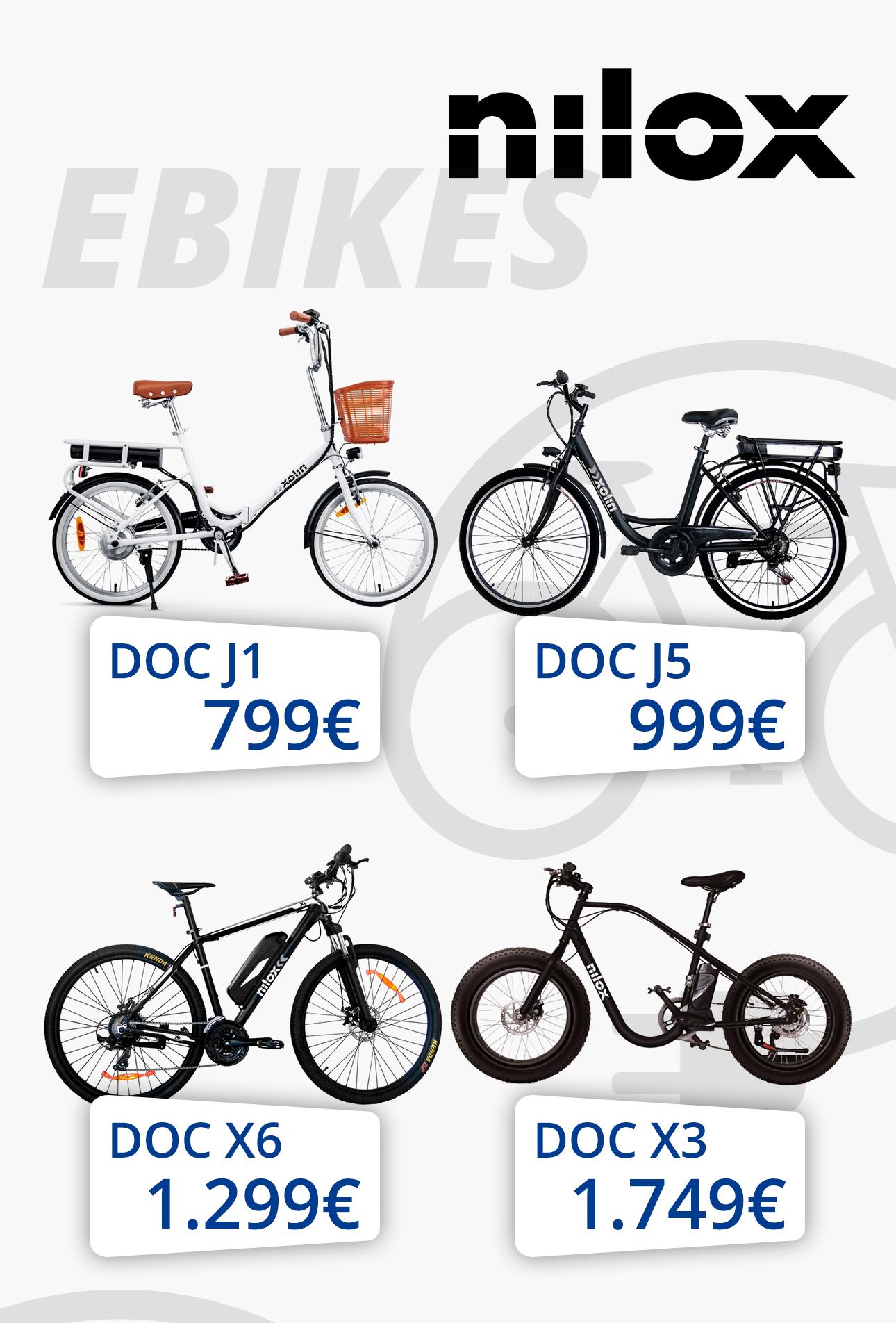 Κινούμαι ηλεκτρικά με ηλεκτρικά ποδήλατα Nilox -40%